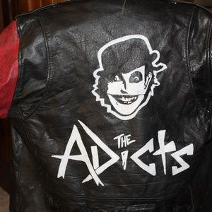 """Men's Leather Punk Rock Jacket """"The Adicts"""""""
